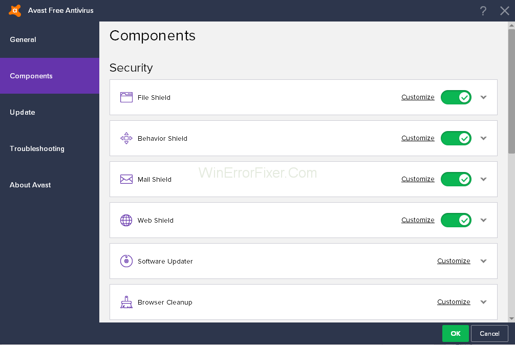 Avast Components