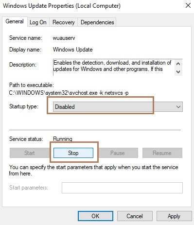 Search for Windows Update Service to fix Your Windows License Will Expire Soon