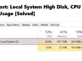 Service Host - Local System High Disk, CPU and Memory Usage