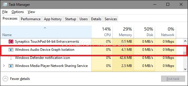 Windows Audio Device Graph Isolation High CPU