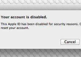 Your Apple ID Has Been Disabled