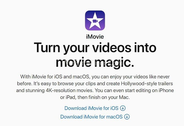 iMovie - Best Video Editing Software