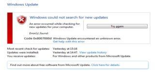 Error Code 0x8007000D in Windows 10
