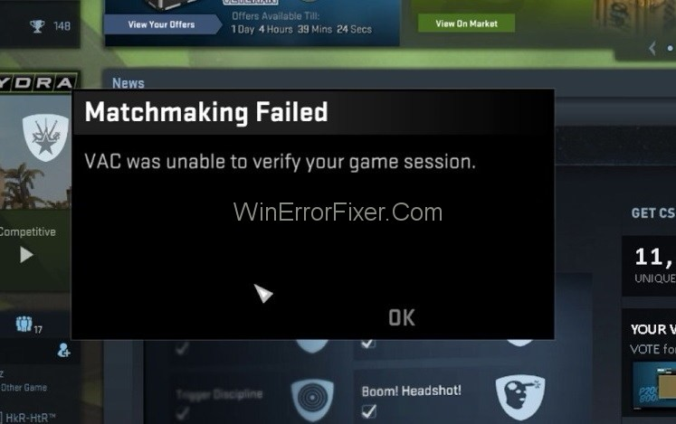 VAC Was Unable To Verify The Game Session