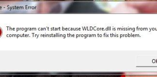 WLDCore.dll is Missing Error on Windows