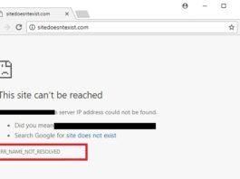 ERR_NAME_NOT_RESOLVED Error in Google Chrome