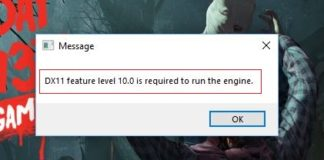 Fix DX11 Feature Level 10.0 is Required to Run the Engine Error