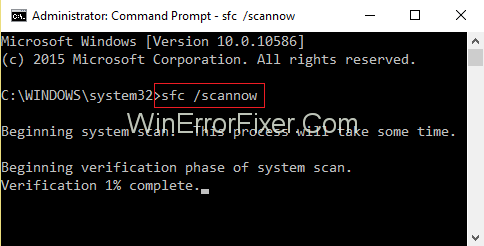 SFC scan now command prompt
