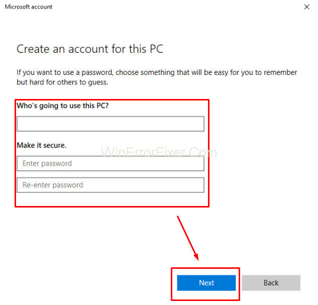 create local user account in windows 10