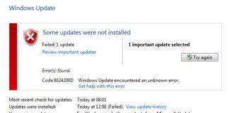 0x8024200D Update Failure Error in Windows 10