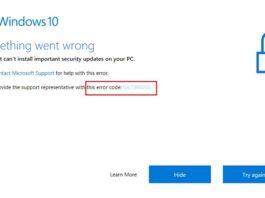 Windows Creators Update Fail with Error 0xc1900208