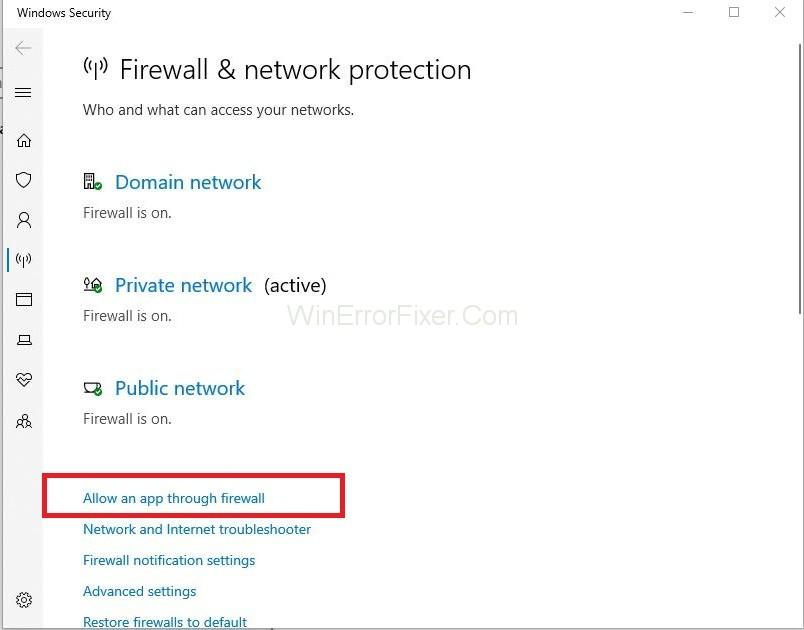 Allow an App through the Firewall