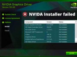 NVIDIA Installer Failed in Windows 10