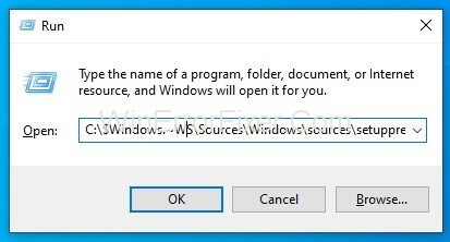 Resume Upgrade by Running Setupprep.exe To Fix Modern Setup Host
