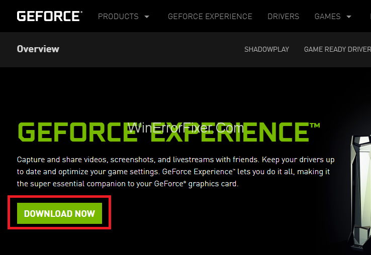 download the latest version of GeForce Experience