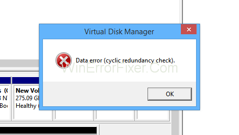 Cyclic Redundancy Check Data Error in Windows 10
