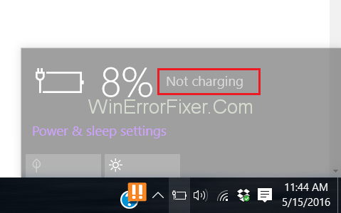 Dell Laptop Plugged in Not Charging in Windows 10