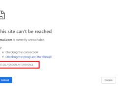 ERR_SSL_VERSION_INTERFERENCE Error in Chrome