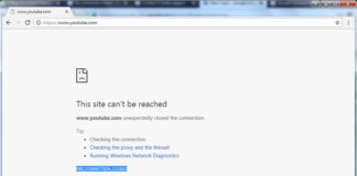 Err_Connection_Closed Error in Google Chrome Browser