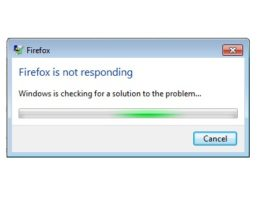 Firefox Not Responding Error in Windows 10
