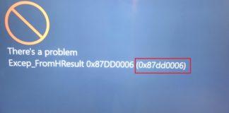 Xbox Sign in Error 0x87dd0006