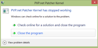 pvp.net Patcher Kernel Has Stopped Working