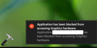 Application Has Been Blocked From Accessing Graphics Hardware Error in Windows 10