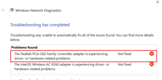 How to Fix Realtek PCIe GBE Family Controller Adapter is Experiencing Driver- or Hardware-Related Problems