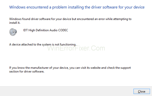 How to Fix IDT High Definition Audio CODEC Error in Windows 10, 8 and 7