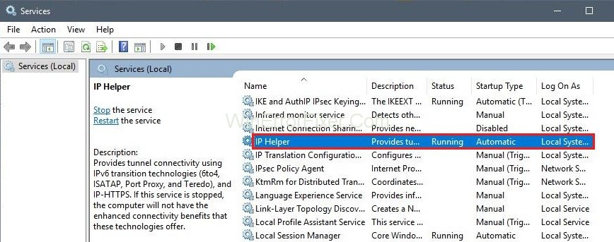 What is IP Helper Service (iphlpsvcs.exe), Should You Safe to Disable It