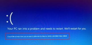 Whea_Uncorrectable_Error on Windows 10