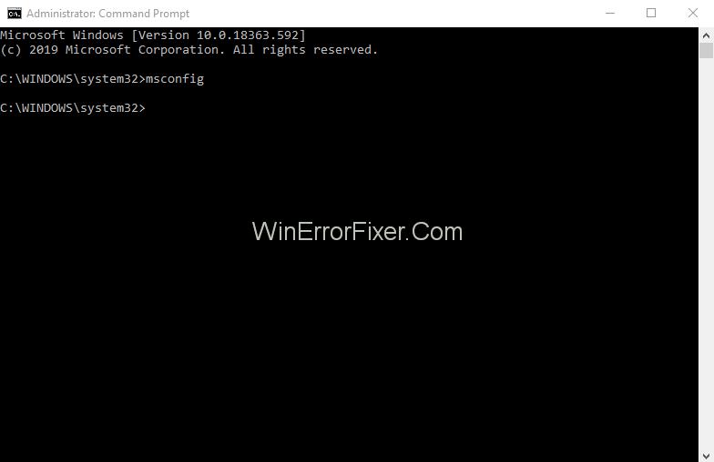 Fix GSvr Issue Using msconfig