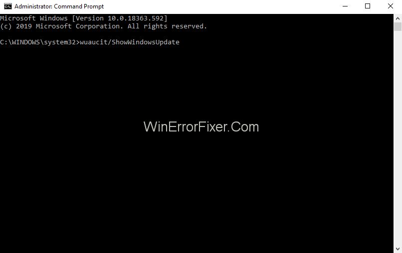 Fix GSvr Issue Using wuaucit /ShowWindowsUpdate