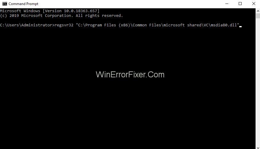 Fix msdia80.dll using Command prompt CMD