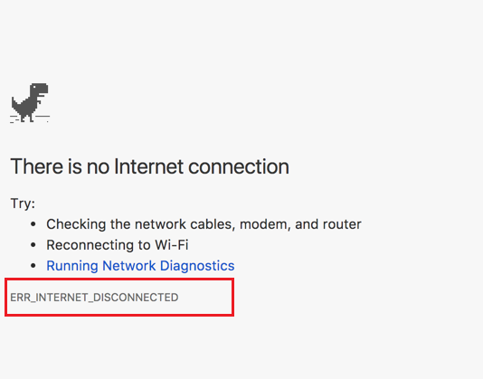 How to Fix ERR_INTERNET_DISCONNECTED Error in Windows and Mac