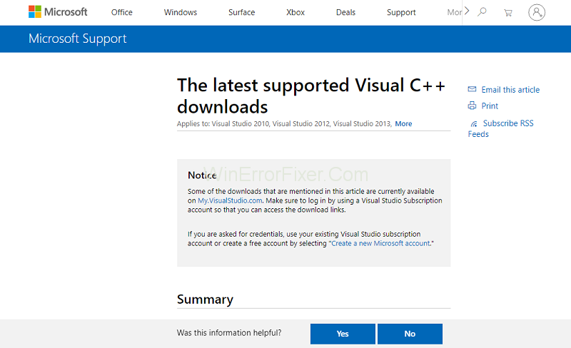 Install Microsoft Visual C++ Packages to Fix msdia80.dll Errors