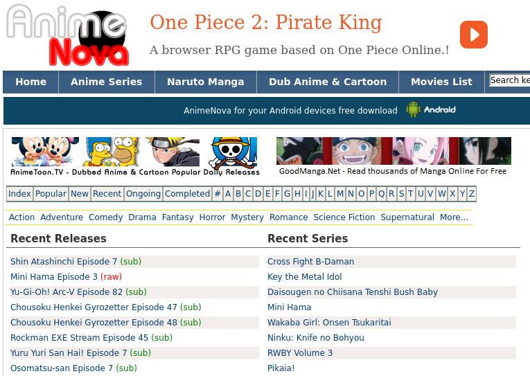 Best Sites Like Animenova to Watch Anime Online