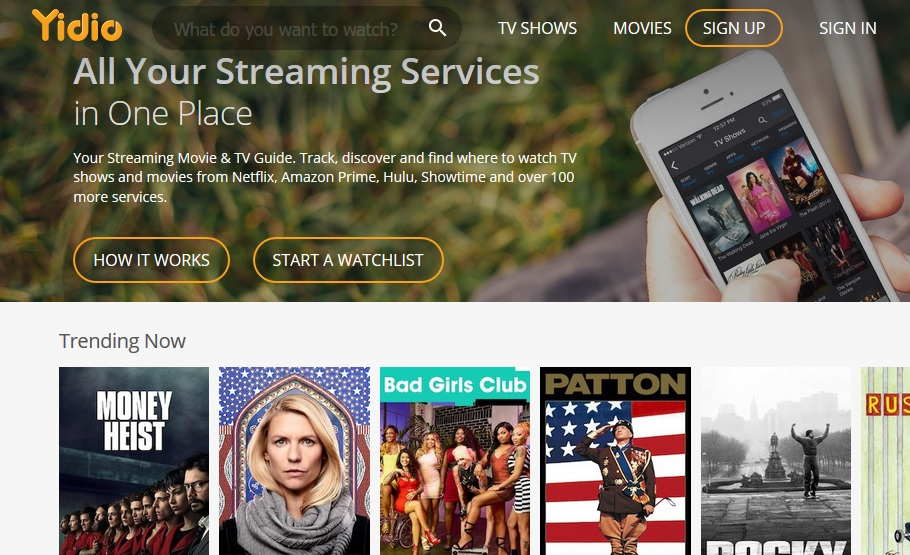Best Sites Like Yidio to Stream TV Shows, Movies and More