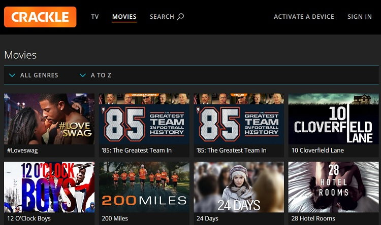 Best Movie Sites Like Crackle to Watch Movies Online and TV Shows