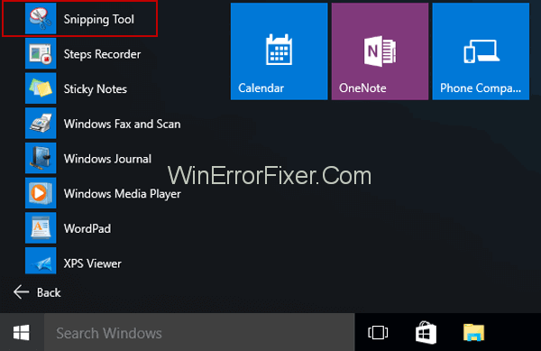 How to Open Snipping Tool on Windows 10