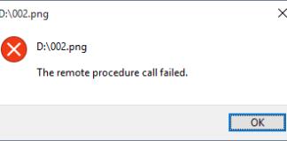 Remote Procedure Call Failed Error in Windows 10