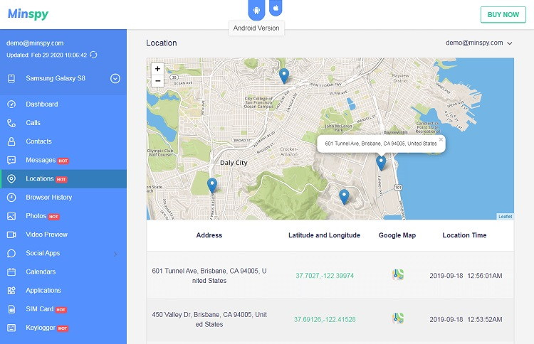 Know the location of your Child with Minspy