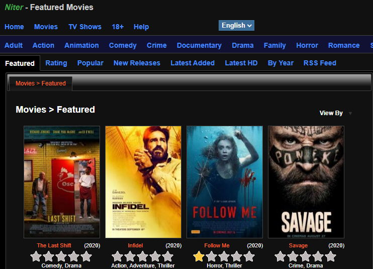 Sites Like Niter to Watch Movies Online