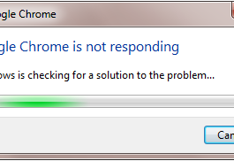 Google Chrome Not Responding