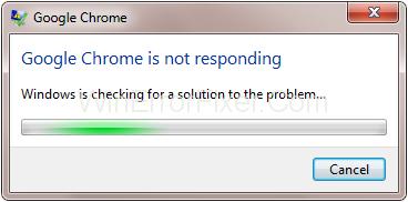 Google Chrome Not Responding