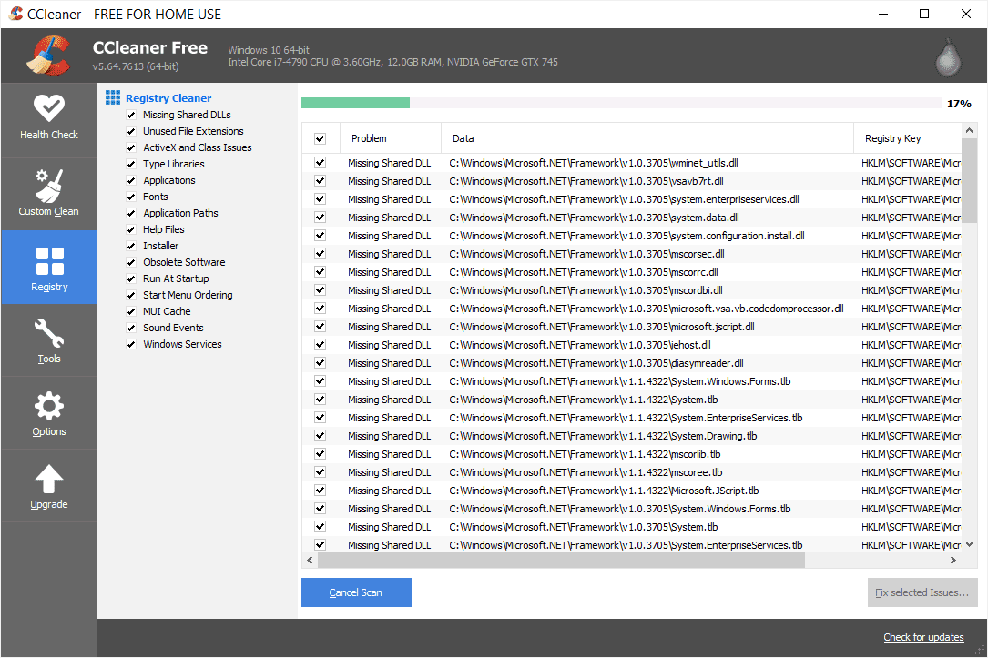 CCleaner Free Registry Cleaner Software