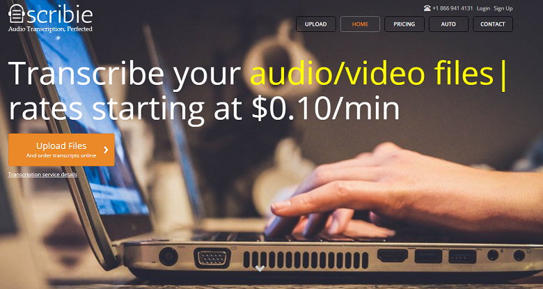 Scribie Audio and Video Transcription Software
